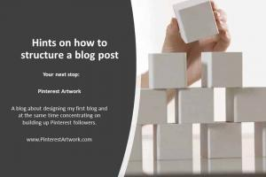 Hints on how to structure a blog post.