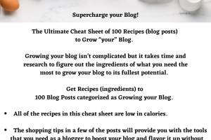 100 recipes to grow your blog