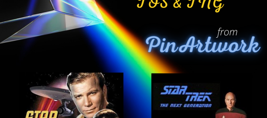 features covers for Star Trek The Original Series and Star Trek The Next Generation