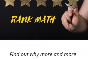 Five Gold stars to show the significance of using Rank Math to improve your SEO